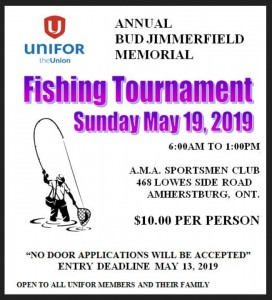 Unifor Fishing Tourny
